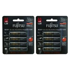NEW 8 Pack Fujitsu AA 2450mAh Pre Charged and LSD NiMH Rechargeable Batteries