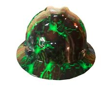 Hydrographic Warrior Green MSA V-Guard Full Brim Hard Hat