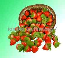 50pcs fake mini strawberry artificial fruit Home Garden party decor art deco