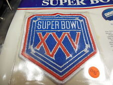 '91 Super Bowl Xxv Replica Patch With Game Nfl Football Notes Giants Bills Rare