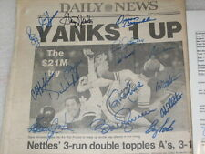 1981 YANKEES AMERICAN LEAGUE CHAMPIONS (16) TEAM SIGNED DAILY NEWS PAPER JSA LOA