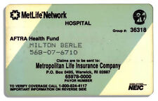 Milton Berle TV Union Health Insurance Card / Estate
