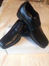 JCDees Niños Negro Con Cordones Inteligente Zapato Escolar Tamaño del zapato 13