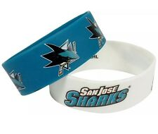 NHL San Jose Sharks Rubber Silicon Bracelet Wristband 2-Pack