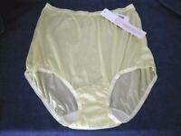 Vintage Shadowline Yellow Brief Panties  sz 10  2XLarge