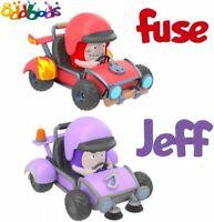 "Oddbods Set of 2 Figures Car Fuse & Jeff ""Mini Racers"" Pull Back & Press To Go!"