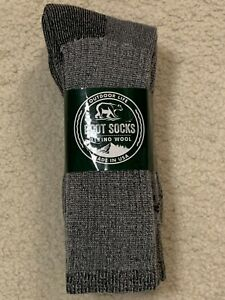 Merino Wool 6 PAIRS Cabelas Thermal Boot Socks Outdoor Life Size 10-13 USA MADE