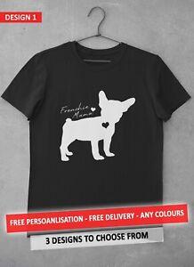 Frenchie Bulldog TShirt Custom Love Mama Cute Mum Mummy Mothers Day Gift S-2XL