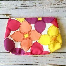 Pink Orange & Yellow Floral Clinique Make Up Bag