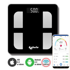 Digital Bluetooth Body Fat Water Bone Calories BMI Analyser Bathroom Scales UK