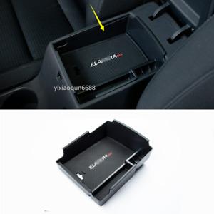 For Hyundai Elantra 2017-19 Black ABS Interior Armrest Storage Box Holder Cover
