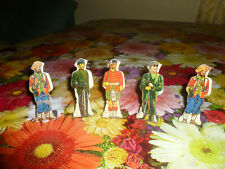 Marx Lot 5 Vintage Tin Litho Toy Soldiers  Sikh #10 #15 #20