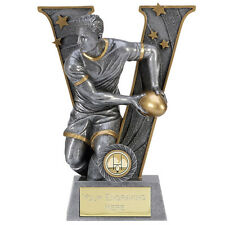 A1492B X 16 RESIN RUGBY TROPHIES SIZE 18.5CM 7.25 INCH FREE ENGRAVING