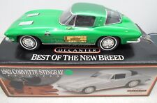 1963 CHEV CORVETTE RALLY GREEN JIM BEAM REGAL CHINA DECANTER BOTTLE