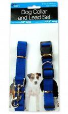 Dog Collar and Leash Set - Blue - medium - Nylon - lead puppy