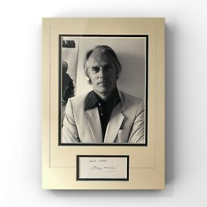 Sir George Martin - Legendary Beatles Manager Signed Display