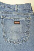 DICKIES Size 44 x 32 Mens STRAIGHT LEG Cotton Denim Medium Wash WORK Blue Jeans