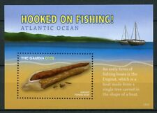 Gambia 2017 MNH Hooked on Fishing 1v S/S Beaches Dogout Boats Ships Stamps