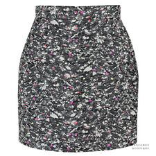 Proenza Schouler Flecked Grey Carpet Pad Jacquard Mini Skirt US6 UK10