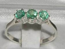 Emerald Natural Sterling Silver Fine Rings
