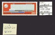 DDR 1966 Einweihung Verwaltungsgebäude WHO MiNr. 1178 I postfrisch Plattenfehler