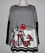 Hüftlange Damenblusen, - Tops & -Shirts aus Mischgewebe Größe 42