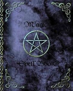 Witchery Magic Spell Book of Shadows Grimoire Gifts 90 Blank Spells Records