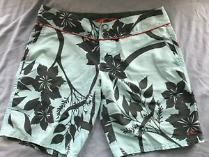 Oneill Shorts Boardshorts Mint Green With Gray Floral Juniors Size 3