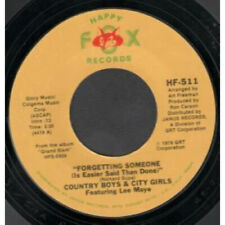 """COUNTRY BOYS AND CITY GIRLS Forgetting Someone 7"""" VINYL USA Happy Fox B/W She"""