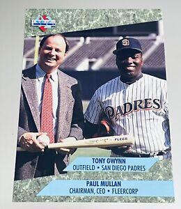TONY GWYNN PADRES & PAUL MULLAN CEO 1992 FLEER ULTRA COMMEMORATIVE PROMO CARD