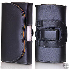Universal Leather Belt Loop Pouch Holster Case For Mobile Phone iPhone Galaxy
