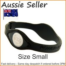 1 x Small Power Balance Silicone Wristband Size 17.5cm All Black in box fast del