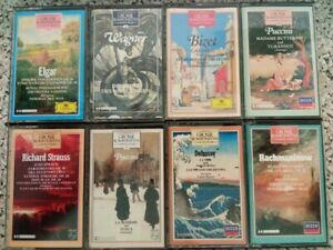 8x Grosse Komponisten und ihre Musik / Klassik Kassetten MC Sammlung