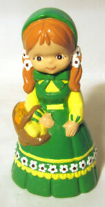 "VINTAGE 8"" CERAMIC IRISH GIRL ST. PATRICK PATTY'S DAY FIGURINE"