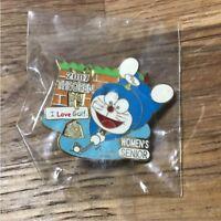 DORAEMON 2007 THE OPEN WOMEN'S SENIOR golf Media Pin Badge Japanese TV Asahi NEW