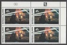 MARSHALL ISLANDS, SCOTT # 240, PLATE BLOCK OF SINKING OF HMS ROYAL OAK, MNH