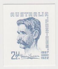 (ABD-10)2001 AU proof 1949 2½d Henry Lawson engraved stamps of Australia in blue