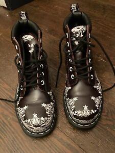 Dr. Martens Lace Oxblood 939 Rare Leather Boots Size 4 Excellent Condition