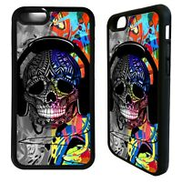 Dj Mc headphone music ibiza skull case cover for iphone 5 6 7 8 plus X XS Max XR