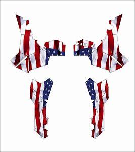 Polaris ACE EPS XC 500 325 570 900 GRAPHIC DECALS WRAP atv SIDE AMERICAN FLAG