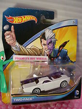 2016 DC COMICS Hot Wheels❊TWO-FACE❊white/purple ❊1/64 diecast character car ❊