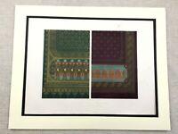 1862 Print Silk Wool Curtains Templeton Glasgow Rare Antique Chromolithograph