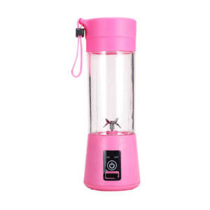 Portable Blender/Juicer Hand Held 12.8 oz. 6 Blade USB Rechargeable, In 7 Colors