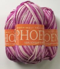 Phoenix South West Trading Yarn Ribbon Tape Pink Ballet 102 Lot Of 3 Skeins Soy