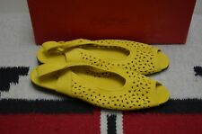 Arche LN Made in France Lilyme Nubuck Suede Leather Ballet Flat Sandals 40 US 9