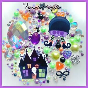 HALLOWEEN Resin Flat back Embellishments For Crafts Decoden Card Making Spooky
