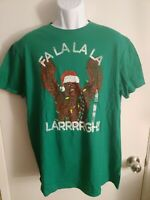 STAR WARS CHEWBACCA CHEWY CHRISTMAS  T-Shirt Green Size L, S