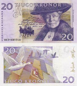 Sweden 20 Kronur (2008) - Fairy Tale Illustration/p63c Sig. Gernandt-Ingves UNC