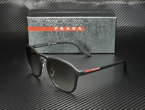 PRADA LINEA ROSSA PS 02SS DG00A7 Black Rubber Grey Gradient Men's Sunglasses