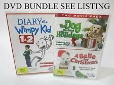 DVD BUNDLE x4 - Dog Movies x5 and Diary of a Wimpy Kid 1&2 - RRP$60
